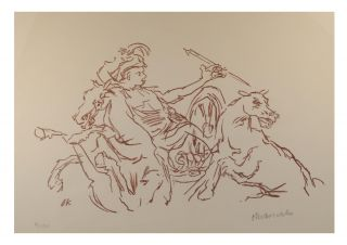 'Achills Sturz' [Achilles' Fall, 1969]. An original chalk lithograph (now archivally matted,...