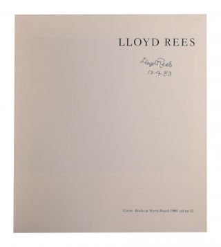 Lloyd Rees. Late Drawings and Lithographs