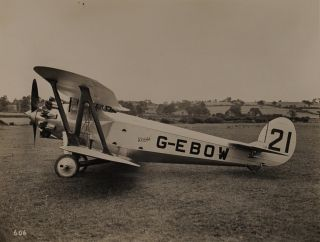 An impressive collection of nineteen vintage gelatin silver photographs of Bristol aircraft from...