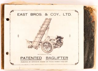 East Bros. & Coy., Ltd. Agricultural Implement Makers, Mallala, South Australia [label on an album of trade photographs and printed ephemera]