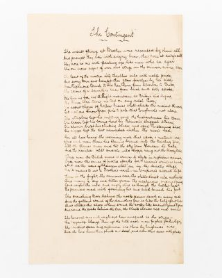 'The Contingent.' A manuscript patriotic poem about the Second Boer War. Boer War, Arthur'...